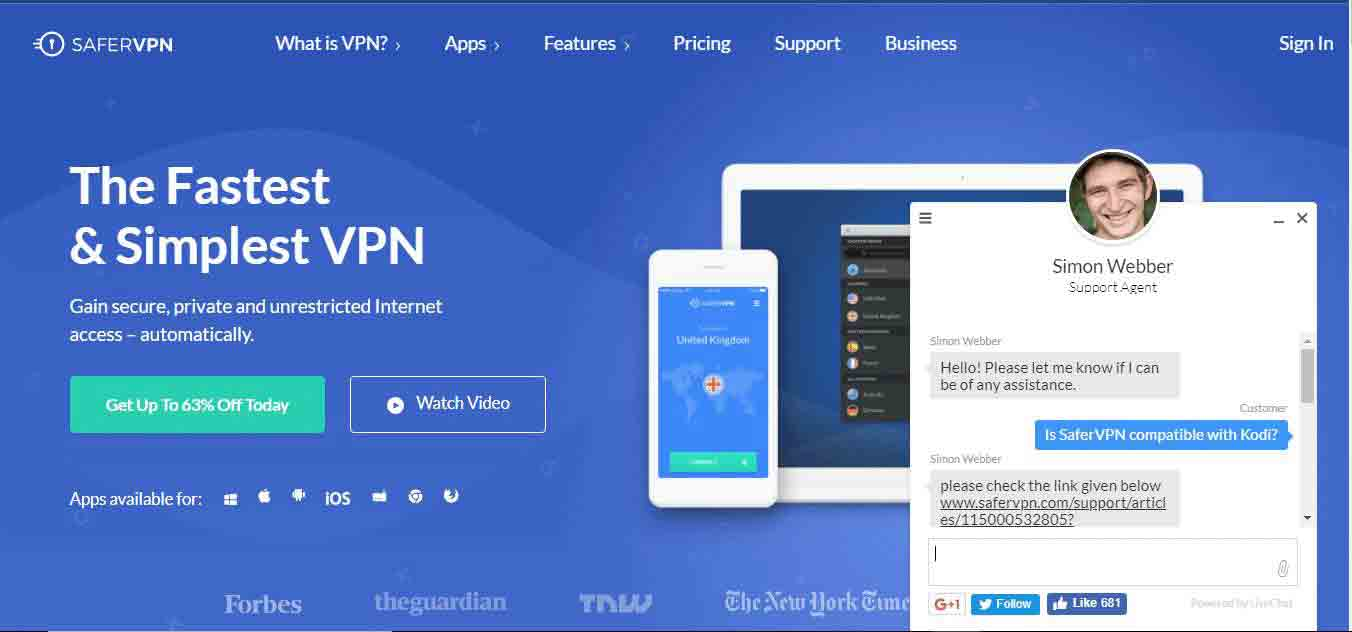 IsSaferVPN compatible with Kodi